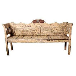 Italian Painted Wood Bench