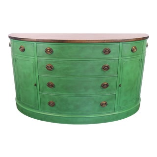 Drexel Green and Wood Stained Sideboard