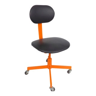 Orange & Black Mid-Century Modern Office Chair