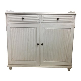 White Reproduction Swedish Sideboard