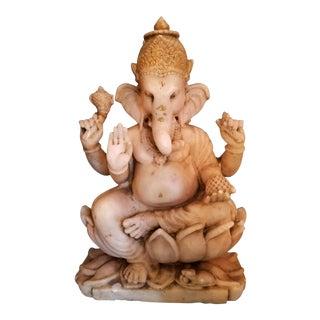 19th Century Marble Ganesh Deity