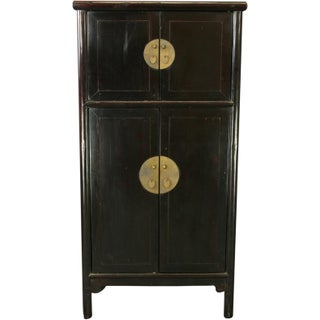 Storage Cabinet Late Qing Dynasty Round Corner