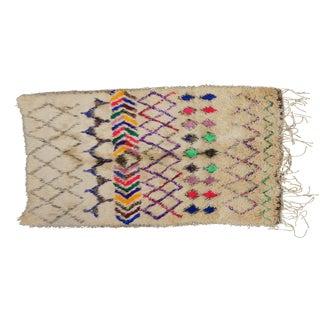 Vintage Moroccan Beni Ourain Rug - 4′2″ × 6′7″