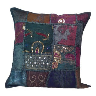 Boho Tribal Block Print Textile Artistic Pillow