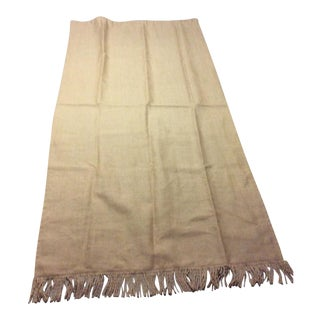 Ballard Lined Burlap Fringed Drapes- A Pair