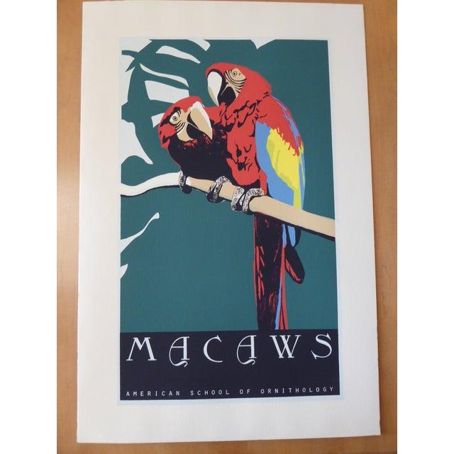 Large Vintage Macaw Silkscreen - Image 2 of 6