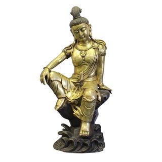 Chinese Metal Kwan Yin Tara Bodhishattva Statue