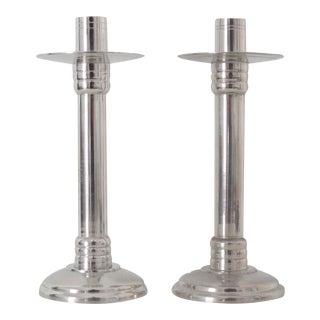 Silver Candlesticks, Pair