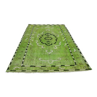Lime Green Turkish Bohemian Rug - 5′11″ × 9′5″