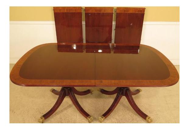 Councill Banded Mahogany Dining Table Chairish : 94dc4ed2 aa72 40a4 b91b 3aa2663db725aspectfitampwidth640ampheight640 from www.chairish.com size 621 x 621 jpeg 24kB