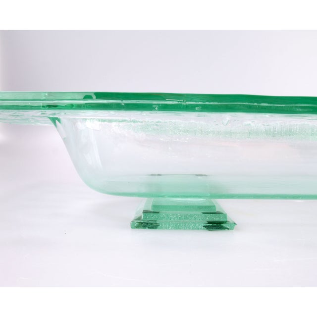 Floating Green Glass Centerpiece Tray - Image 10 of 11