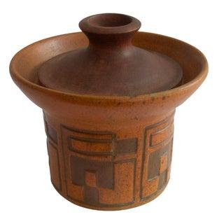 Rare Raymor Teak & Ceramic Container