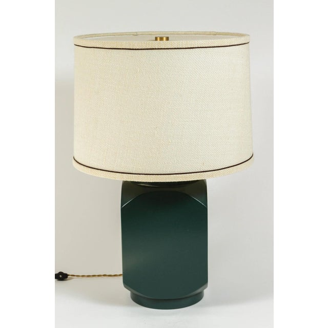 Martin and Brockett Modern Matte Lacquer Lamp - Image 5 of 5