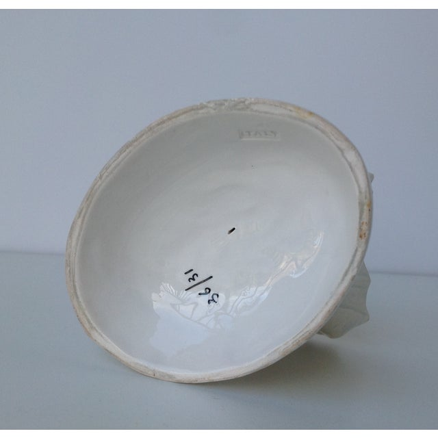 Image of Porcelain Blanc De Chin Dolphin Footed Dish
