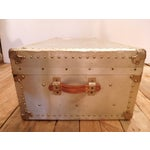 Image of Vintage Riveted Metal Lined Luggage Trunk