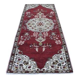 Turkish Konya Handmade Rug - 3′4″ × 8′6″