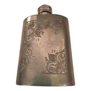 Vintage English Pewter Flask