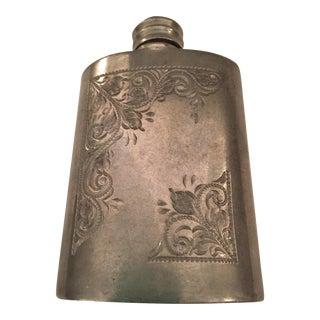 Vintage English Pewter Flask