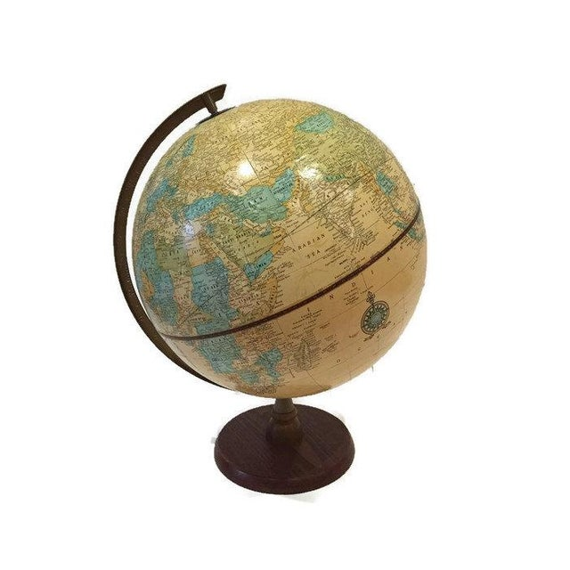 Vintage Crams Imperial World Globe Wood Stand - Image 6 of 6