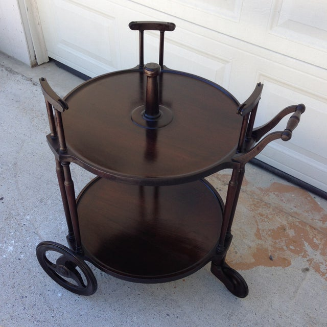 Irving & Casson Antique Wooden Bar Cart - Image 4 of 7