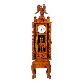 Carved Folk Art Tall Clock