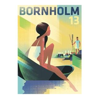 Danish Modern Travel Poster, Bornholm 2013