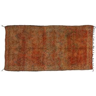 Boho Chic Vintage Berber Moroccan Rug, 6'7x12'8