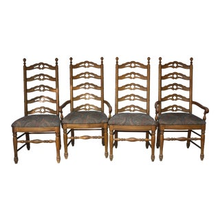 Thomasville Hacienda Ladder Back Dining Chairs - Set of 4