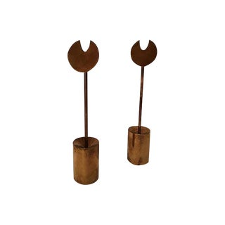 Pierre Forsell Brass Candleholders - A Pair