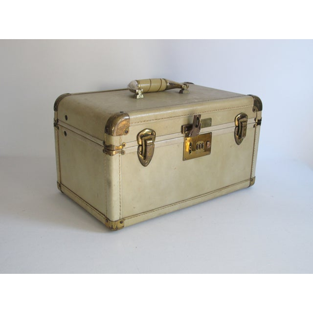 Cream Leather Train Case - Image 2 of 6