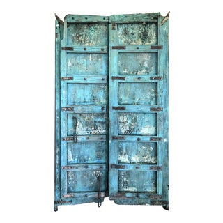 Antique Indonesian Blue Door