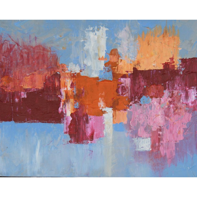"""C. Plowden """"Box Arrangement #1"""" Abstract Painting - Image 1 of 2"""