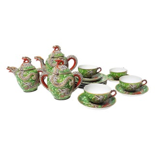 15-Piece Japanese Nagoya Dragonware Tea Set