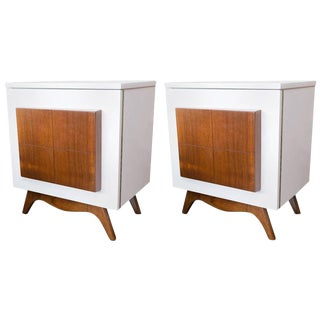 Pair of Mid-Century Modern Lacquered Nightstands