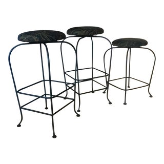 Paisley Bar Stools - Set of 3