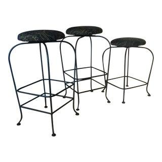 Paisley Bar Stools - Set of 3