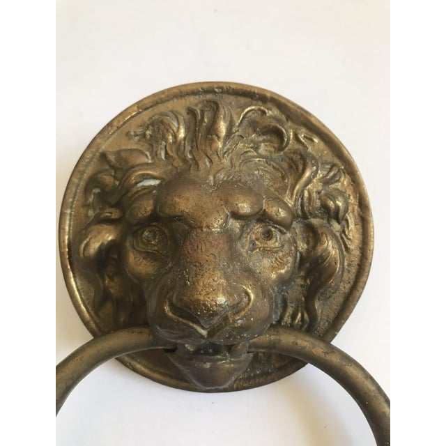 Antique Lion Head Door Knocker - Image 2 of 8