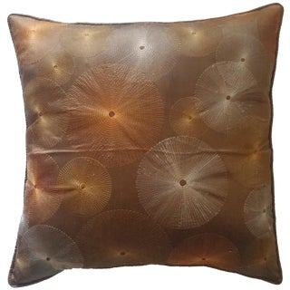 Brown Sunburst Pillow Cover