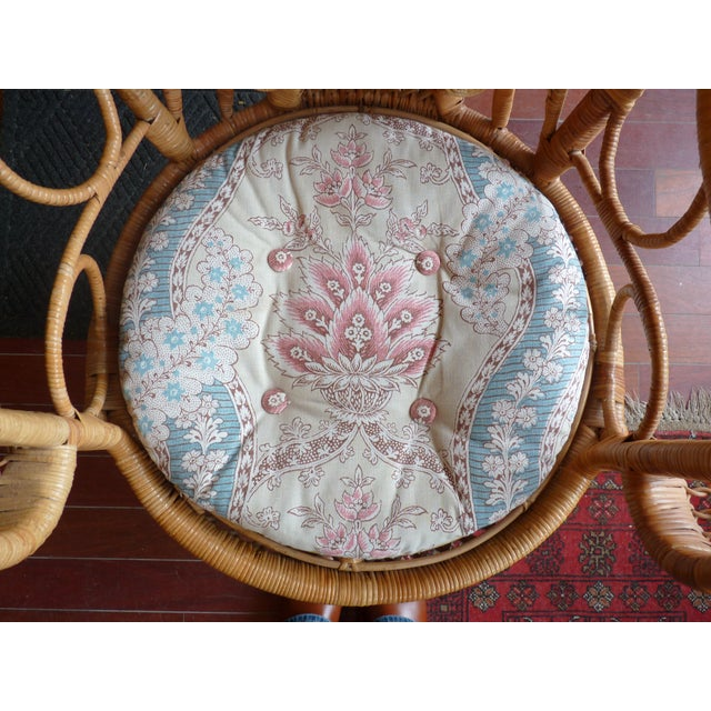 Curly Wicker Throne Chair - Image 5 of 9