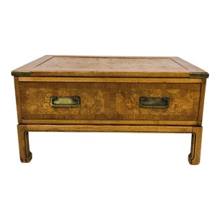 Burlwood Campaign Trunk Coffee Table
