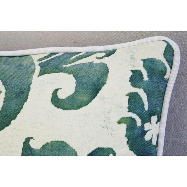 Designer Italian Fortuny Glicine & Velvet Pillow - Image 3 of 6