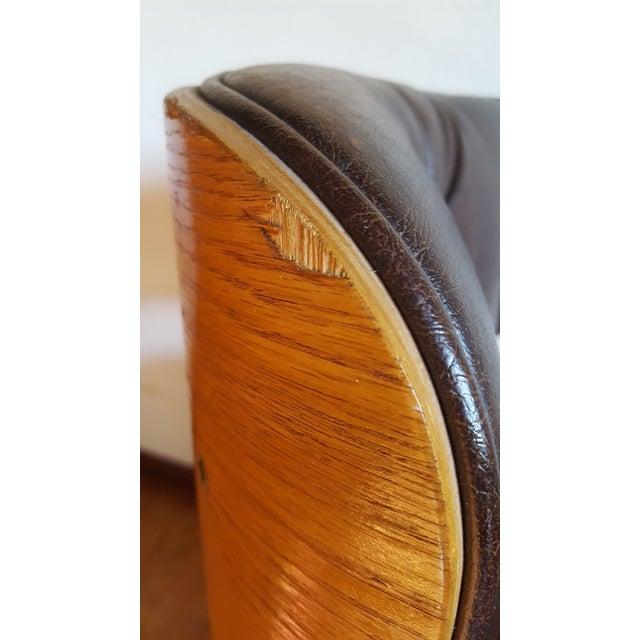 Vintage Herman Miller Eames Era Style Chocolate Selig Plycraft Lounge Chair - Image 8 of 11