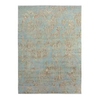 Kafkaz Peshawar Curt Blue & Brown Wool & Viscose Rug - 8'1 X 10'3