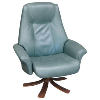 Mid-Century Modern Leather Recliner