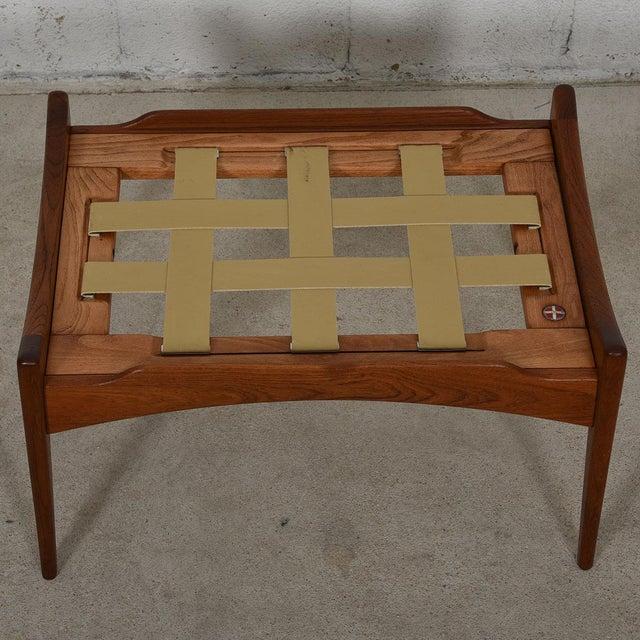 Kofod Larsen Danish Modern Teak Adjustable Lounge Chair with Ottoman - Image 9 of 10