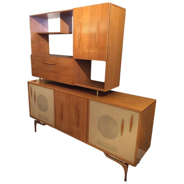 Mid-Century Modern Stereo Cabinet & Dry Bar - Image 1 of 9