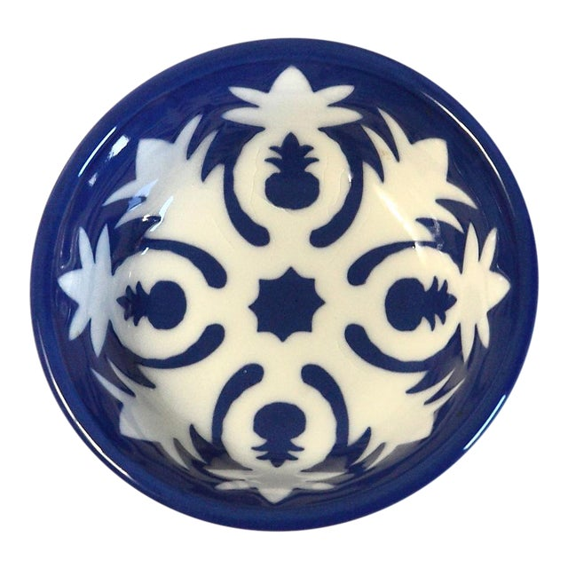 Handmade Ceramic Pineapple Motif Bowl - Image 1 of 5