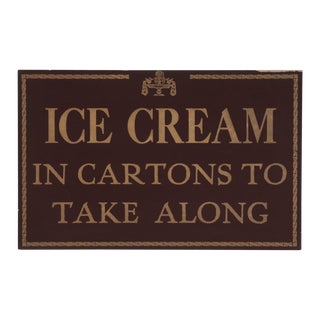 Ice Cream Restaurant Sign