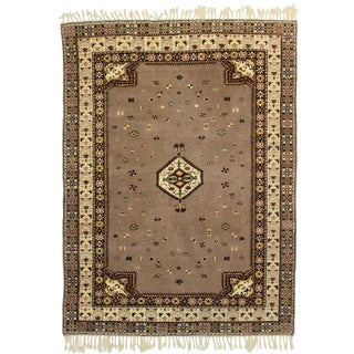RugsinDallas Hand Knotted Wool Moroccan Rug - 5′7″ × 7′6″