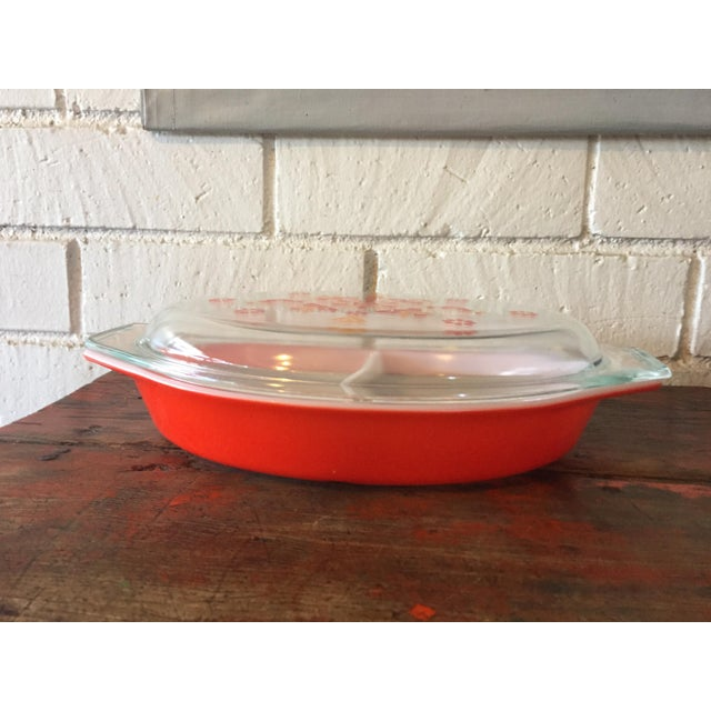 Vintage Pyrex Friendship Divided Casserole Dish - Image 5 of 11
